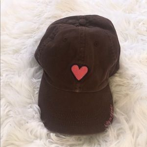 Life is Good Brown Hat With Heart OS ❤️